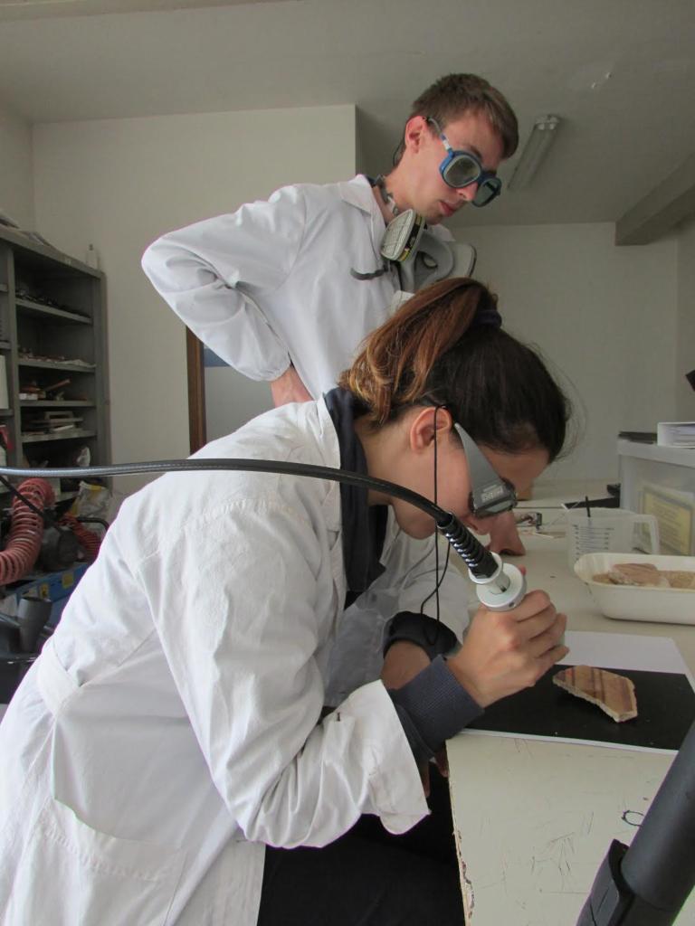 Test di pulitura mediante tecnologia laser abaq 2